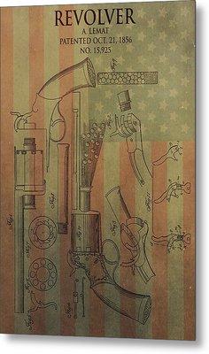 American Vintage Revolver Metal Print