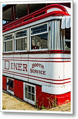 Americana Classic Dinner Booth Service Metal Print by Edward Fielding
