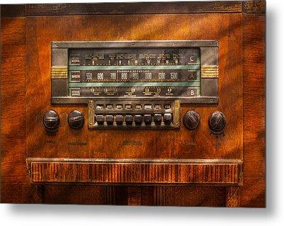 Americana - Radio - Remember What Radio Was Like Metal Print by Mike Savad