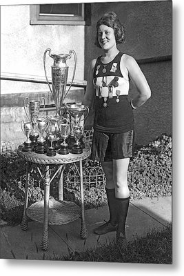 America's Champion Athlete. Metal Print by Underwood Archives