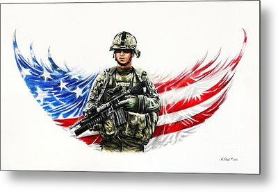 Americas Guardian Angel Metal Print
