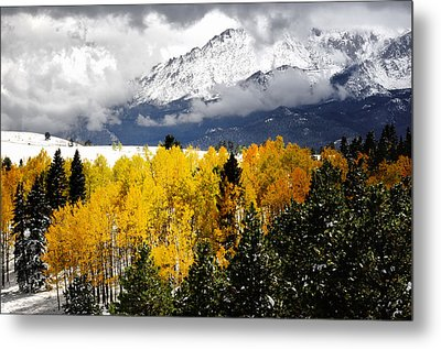 America's Mountain Fall Metal Print by The Forests Edge Photography - Diane Sandoval