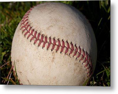 America's Pastime - Baseball Metal Print by David Patterson