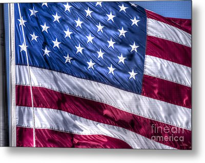 America's Stars And Strips Metal Print by D Wallace