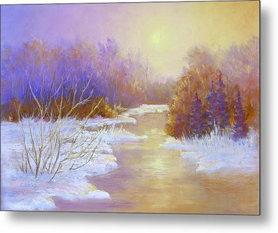 Amethyst Winter Metal Print by Christine Bass