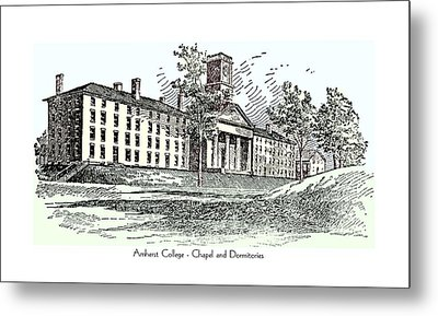 Amherst College - Chapel And Dormitories Metal Print