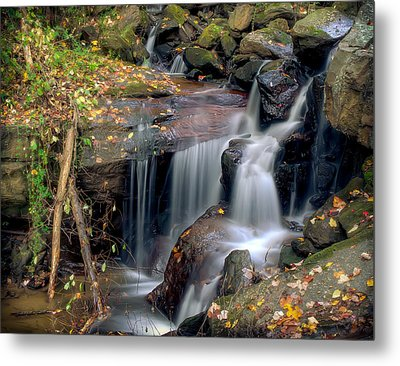 Amicalola Waterfall Metal Print by Anna Rumiantseva