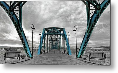 Amid The Bridge Metal Print