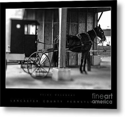 Amish Buggy Parking Metal Print by Vilas Malankar