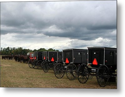 Amish Car Park Metal Print