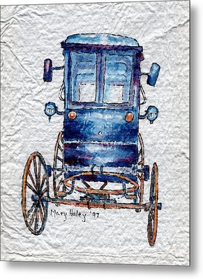 Amish Cart Metal Print