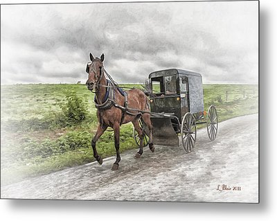 Metal Print featuring the photograph Amish Country by Linda Blair