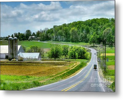 Amish Countryside Metal Print by Dyle   Warren