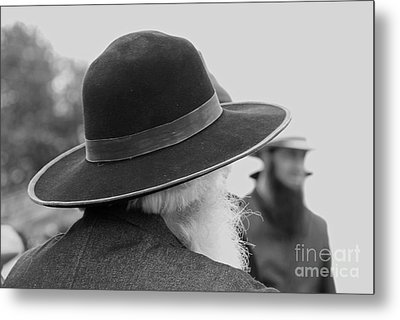Amish Faces Metal Print by Mary Carol Story