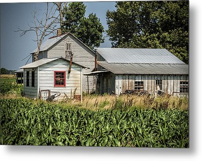Amish Farm In Tennessee Metal Print by Kathy Clark
