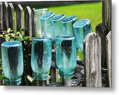 Amish Fence Metal Print by William Rockwell