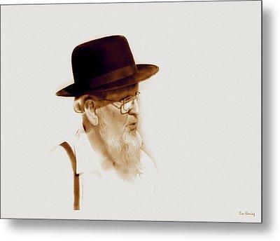 Amish Man  Metal Print by Lin Haring
