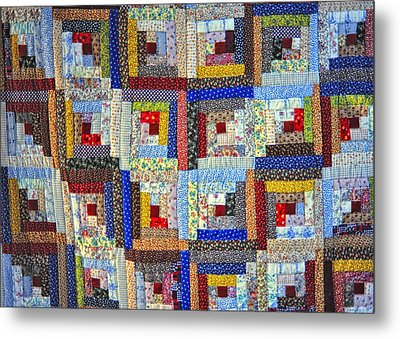 Amish Quilt Metal Print by Wendell Thompson