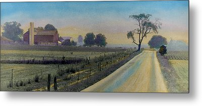 Amish Way Metal Print