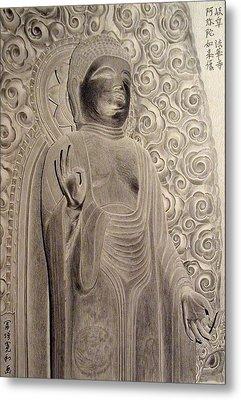 Amitabha Of Gifu Hokke Temple Metal Print by Hirokazu Tomimasu