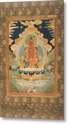 Amitayus - The Bodhisattva Of Limitless Life Metal Print by Tilen Hrovatic