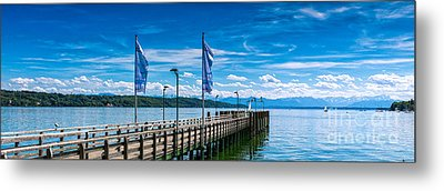 Metal Print featuring the photograph Ammersee - Lake In Bavaria by Juergen Klust