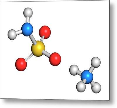 Ammonium Sulfamate Herbicide Molecule Metal Print by Molekuul