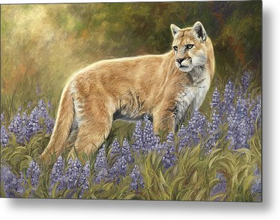Among The Flowers Metal Print by Lucie Bilodeau