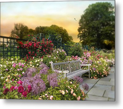 Among The Roses Metal Print by Jessica Jenney