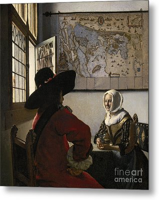 Amorous Couple Metal Print by Vermeer