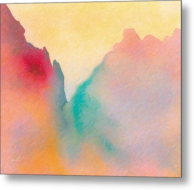 Metal Print featuring the painting Amorphous 50 by The Art of Marsha Charlebois