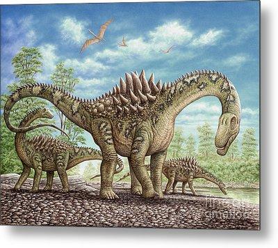 Ampelosaurus Dinosaur Metal Print