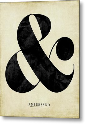 Ampersand Cream Metal Print by Amy Cummings