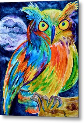 Ampersand Owl Metal Print by Beverley Harper Tinsley