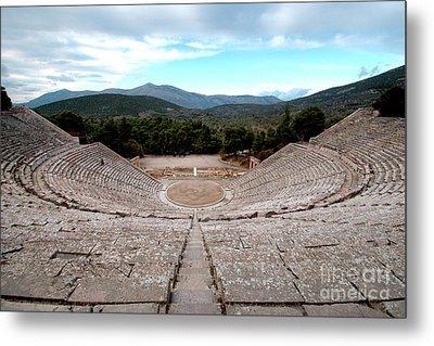 Amphitheatre At Epidaurus 2 Metal Print by Deborah Smolinske