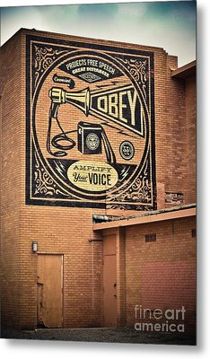 Amplify Your Voice Metal Print by Colleen Kammerer