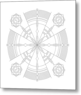 Amplitude Metal Print by DB Artist