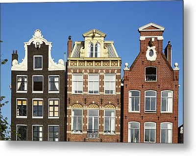 Amsterdam - Gables Of Old Houses At The Herengracht Metal Print by Olaf Schulz