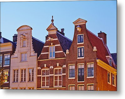 Amsterdam - Gables Of Old Houses At The Keizersgracht In The Evening Metal Print by Olaf Schulz