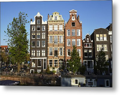 Amsterdam - Old Houses At The Herengracht Metal Print by Olaf Schulz
