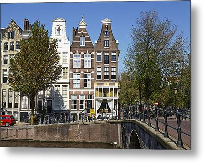 Amsterdam - Old Houses At The Keizersgracht Metal Print by Olaf Schulz