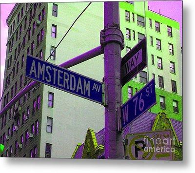 Amsterdam Avenue Metal Print by Susan Carella