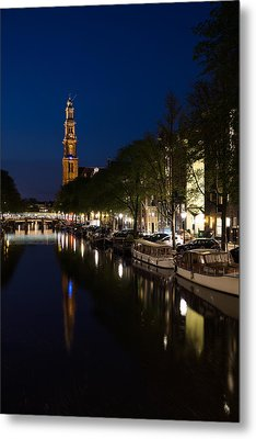 Metal Print featuring the photograph Amsterdam Blue Hour by Georgia Mizuleva