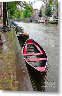 Amsterdam Boat - 02 Metal Print by Gregory Dyer