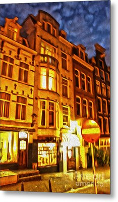 Amsterdam By Night - 01 Metal Print by Gregory Dyer