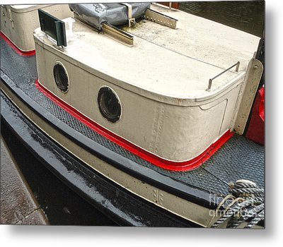 Amsterdam Canal Boat Metal Print by Gregory Dyer
