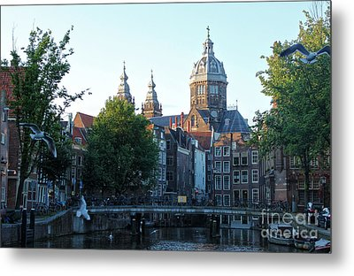 Amsterdam Canal View - 02 Metal Print by Gregory Dyer