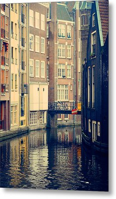 Amsterdam Canals  Metal Print by Jenny Rainbow