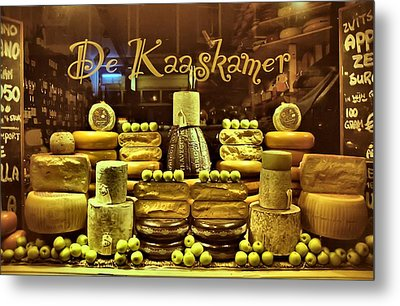 Amsterdam Cheese Shop Metal Print