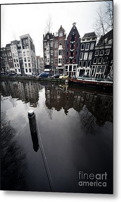 Amsterdam Houses Metal Print by Michael Edwards